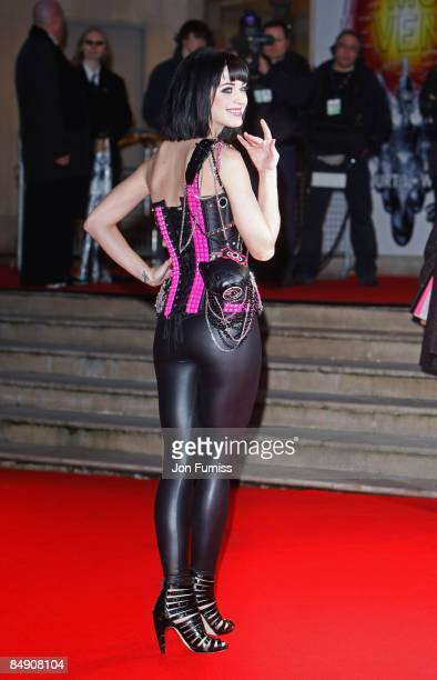Singer Katy Perry arrives for the Brit Awards 2009 at Earls Court on February 18 2009 in London England