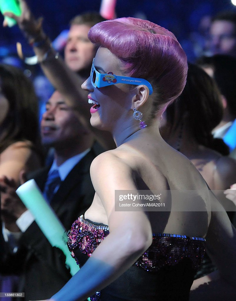 Singer Katy Perry at the 2011 American Music Awards held at Nokia Theatre L.A. LIVE on November 20, 2011 in Los Angeles, California.