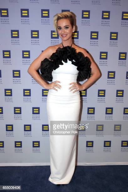 Singer Katy Perry at The Human Rights Campaign 2017 Los Angeles Gala Dinner at JW Marriott Los Angeles at LA LIVE on March 18 2017 in Los Angeles...