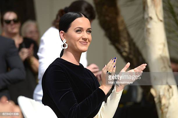 Singer Katy Perry attends Capitol Records Honored by the Hollywood Chamber of Commerce with a 'Star Of Recognition' at Capitol Records Tower on...