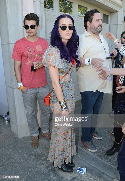 Singer Katy Perry attends day 1 of LACOSTE LVE Hosts a desert pool party in celebration of Coachella on April 14 2012 in Thermal California