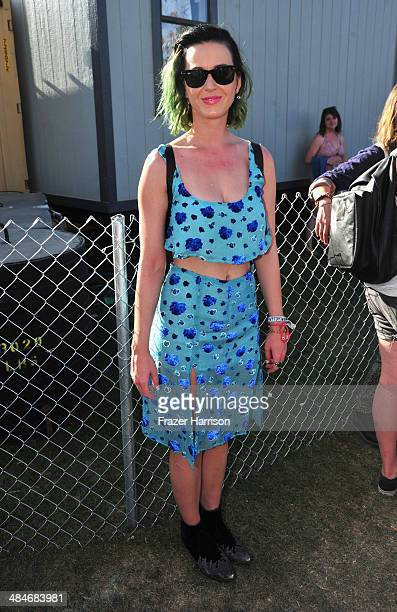 Singer Katy Perry attends day 3 of the 2014 Coachella Valley Music Arts Festival at the Empire Polo Club on April 13 2014 in Indio California