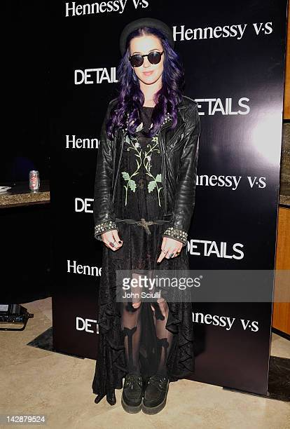 Singer Katy Perry attends DETAILS at Midnight party presented by Hennessy VS on April 13 2012 in Rancho Mirage California