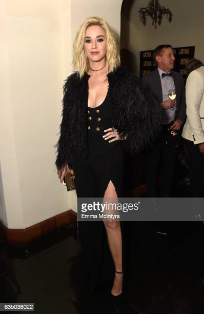 Singer Katy Perry attends GQ and Chance The Rapper Celebrate the Grammys in Partnership with YouTube at Chateau Marmont on February 12 2017 in Los...