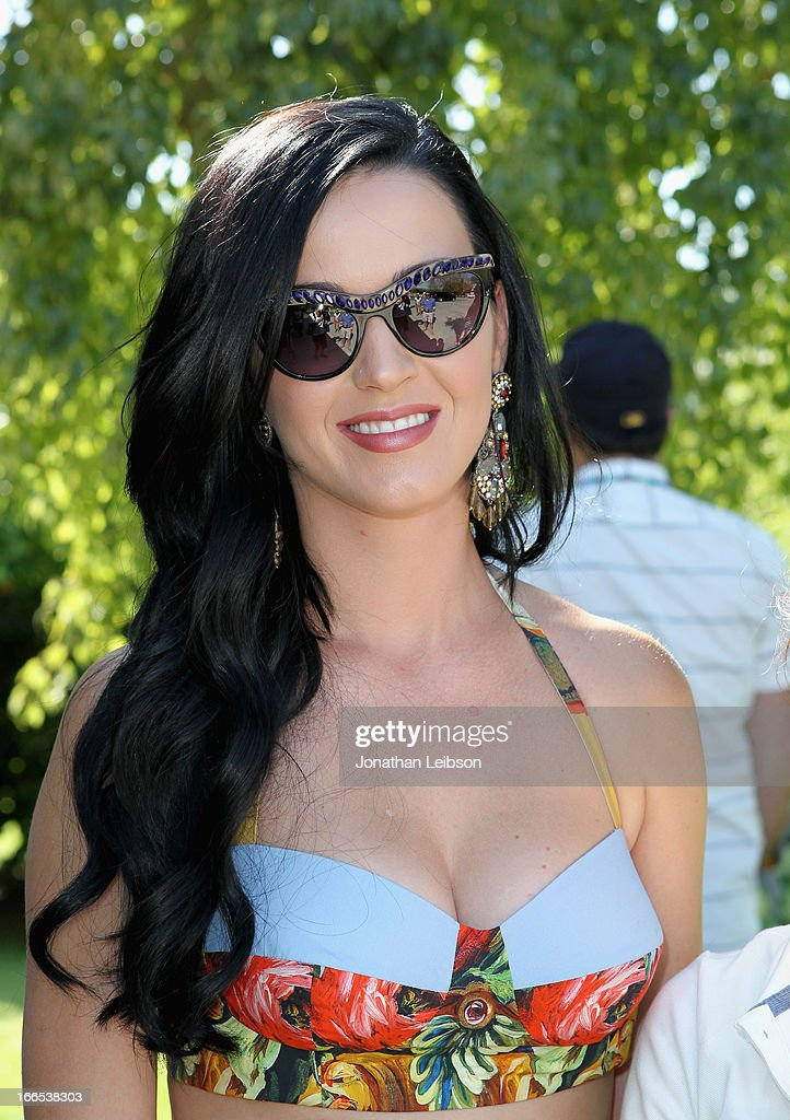 Singer Katy Perry attends LACOSTE L!VE 4th Annual Desert Pool Party on April 13, 2013 in Thermal, California.