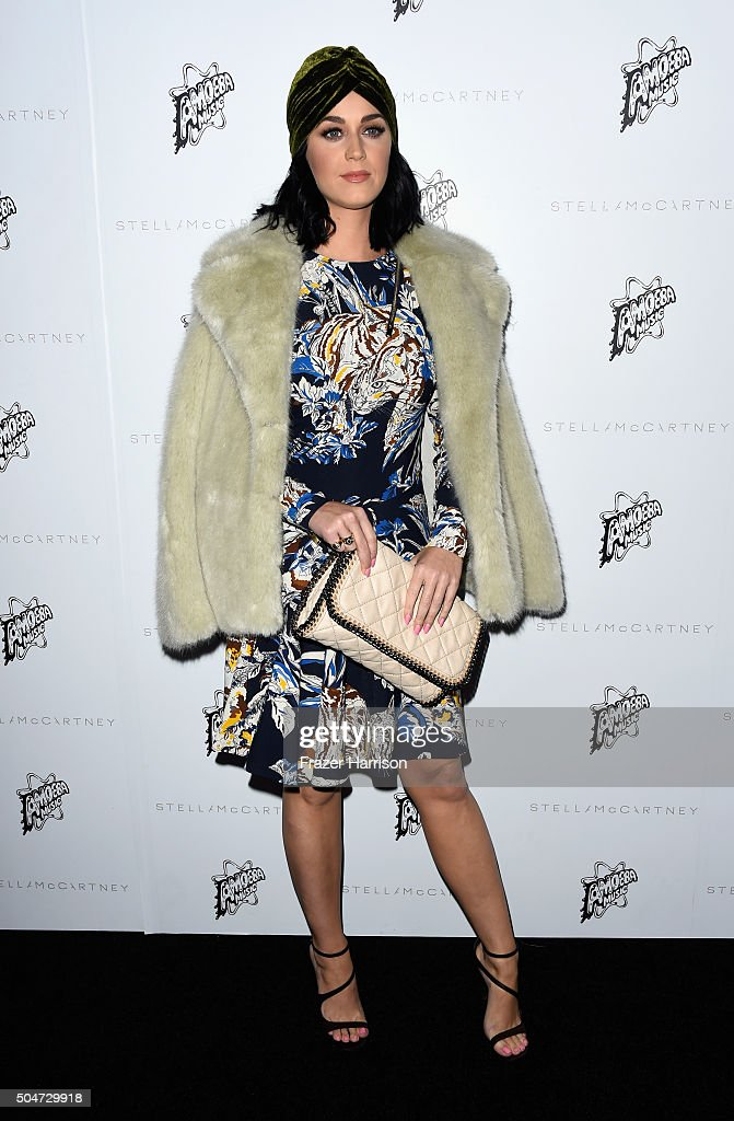Singer Katy Perry attends Stella McCartney Autumn 2016 Presentation at Amoeba Music on January 12, 2016 in Los Angeles, California.