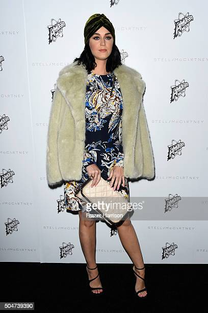 Singer Katy Perry attends Stella McCartney Autumn 2016 Presentation at Amoeba Music on January 12 2016 in Los Angeles California
