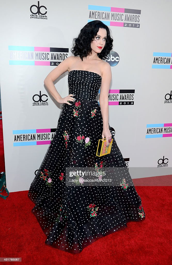 Singer Katy Perry attends the 2013 American Music Awards at Nokia Theatre L.A. Live on November 24, 2013 in Los Angeles, California.
