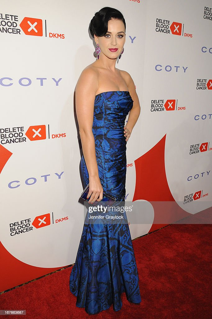 Singer <a gi-track='captionPersonalityLinkClicked' href=/galleries/search?phrase=Katy+Perry&family=editorial&specificpeople=599558 ng-click='$event.stopPropagation()'>Katy Perry</a> attends the 2013 Delete Blood Cancer Gala honoring Vera Wang, Leighton Meester and Suzi Weiss-Fischmann on May 1, 2013 in New York City.