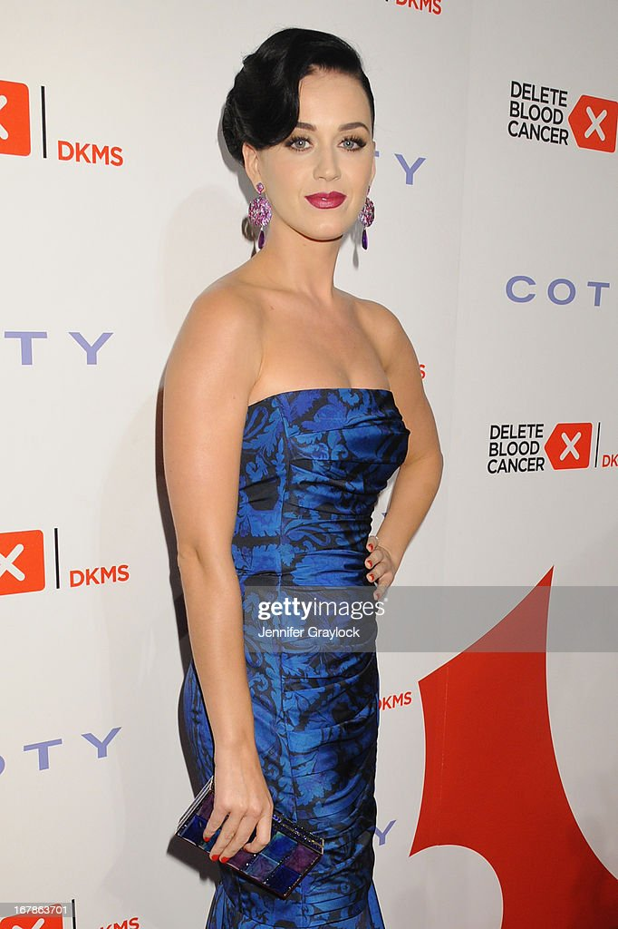 Singer Katy Perry attends the 2013 Delete Blood Cancer Gala honoring Vera Wang, Leighton Meester and Suzi Weiss-Fischmann on May 1, 2013 in New York City.
