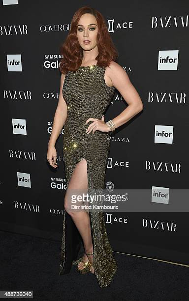 Singer Katy Perry attends the 2015 Harper's BAZAAR ICONS Event at The Plaza Hotel on September 16 2015 in New York City