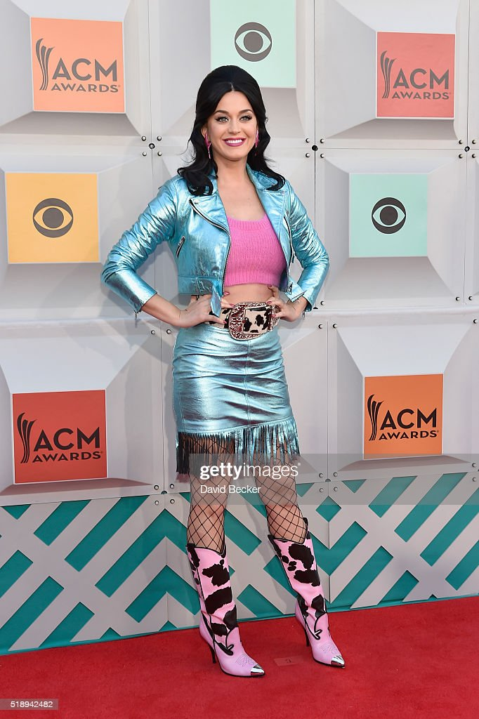 Singer Katy Perry attends the 51st Academy of Country Music Awards at MGM Grand Garden Arena on April 3, 2016 in Las Vegas, Nevada.