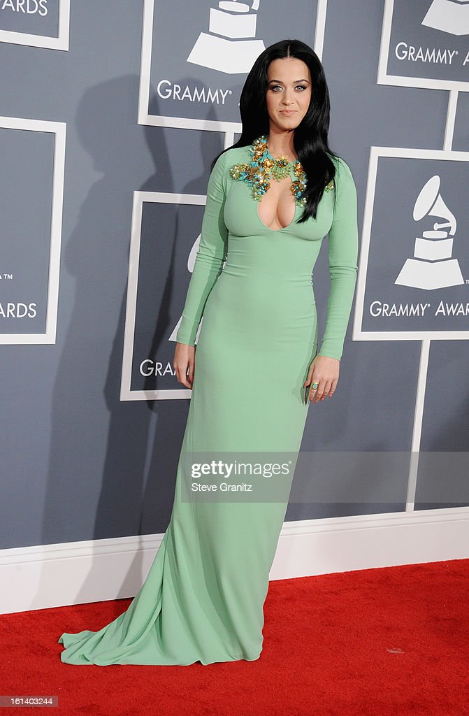 Singer Katy Perry attends the 55th Annual GRAMMY Awards at STAPLES Center on February 10, 2013 in Los Angeles, California.
