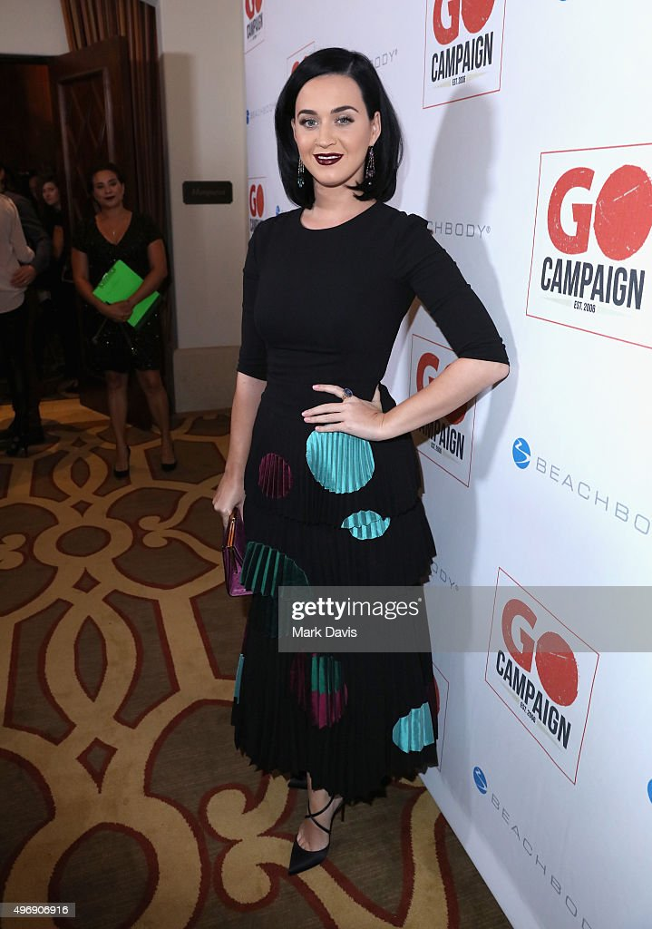 Singer Katy Perry attends the 8th Annual GO Campaign Gala at Montage Beverly Hills on November 12, 2015 in Beverly Hills, California.