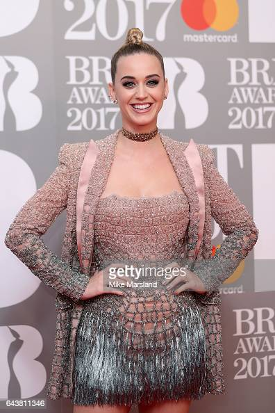 Singer Katy Perry attends The BRIT Awards 2017 at The O2 Arena on February 22 2017 in London England