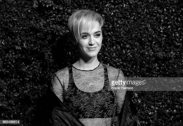 Singer Katy Perry attends the celebration of Chanel's Gabrielle Bag hosted by Caroline De Maigret and Pharrell Williams at Giorgio Baldi on April 6...