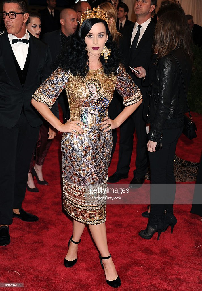 Singer Katy Perry attends the Costume Institute Gala for the 'PUNK: Chaos to Couture' exhibition at the Metropolitan Museum of Art on May 6, 2013 in New York City.