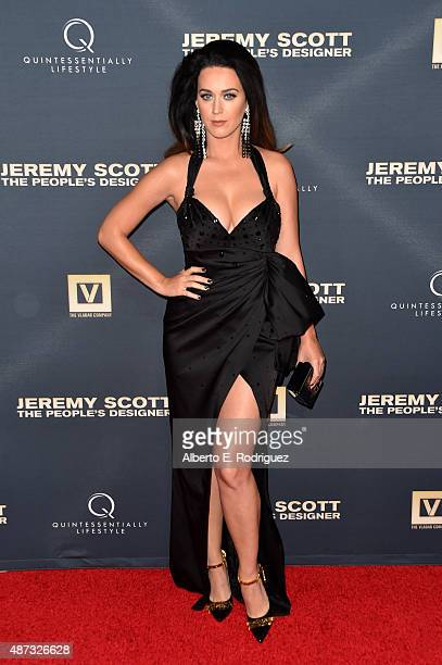 Singer Katy Perry attends the premiere Of The Vladar Company's 'Jeremy Scott The People's Designer' at TCL Chinese 6 Theatres on September 8 2015 in...