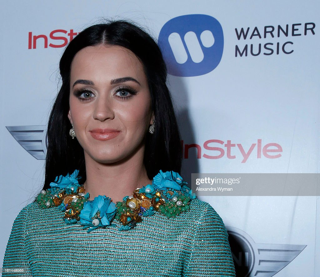 Singer <a gi-track='captionPersonalityLinkClicked' href=/galleries/search?phrase=Katy+Perry&family=editorial&specificpeople=599558 ng-click='$event.stopPropagation()'>Katy Perry</a> attends the Warner Music Group 2013 Grammy Celebration Presented By Mini at Chateau Marmont on February 10, 2013 in Los Angeles, California.