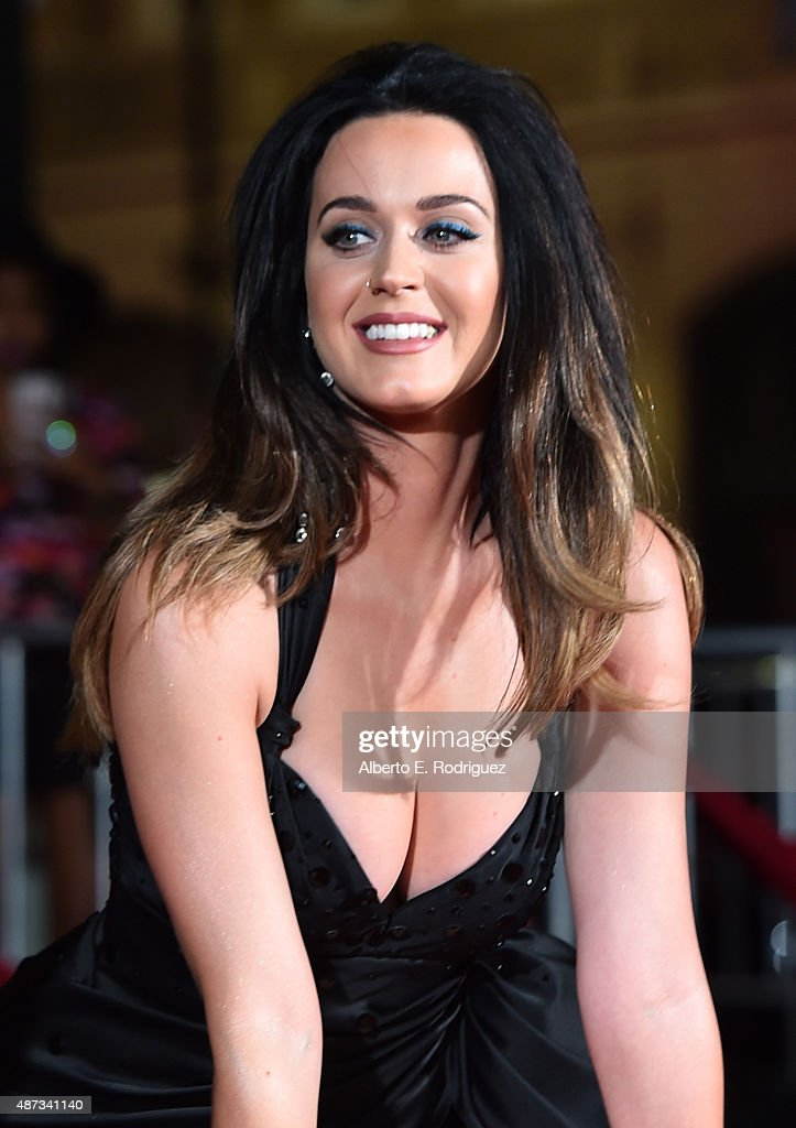 Singer Katy Perry is honored during her hand print ceremony at TCL Chinese Theatre IMAX Forecourt on September 8, 2015 in Hollywood, California.