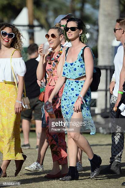 Singer Katy Perry is seen during day 3 of the 2014 Coachella Valley Music Arts Festival at the Empire Polo Club on April 13 2014 in Indio California
