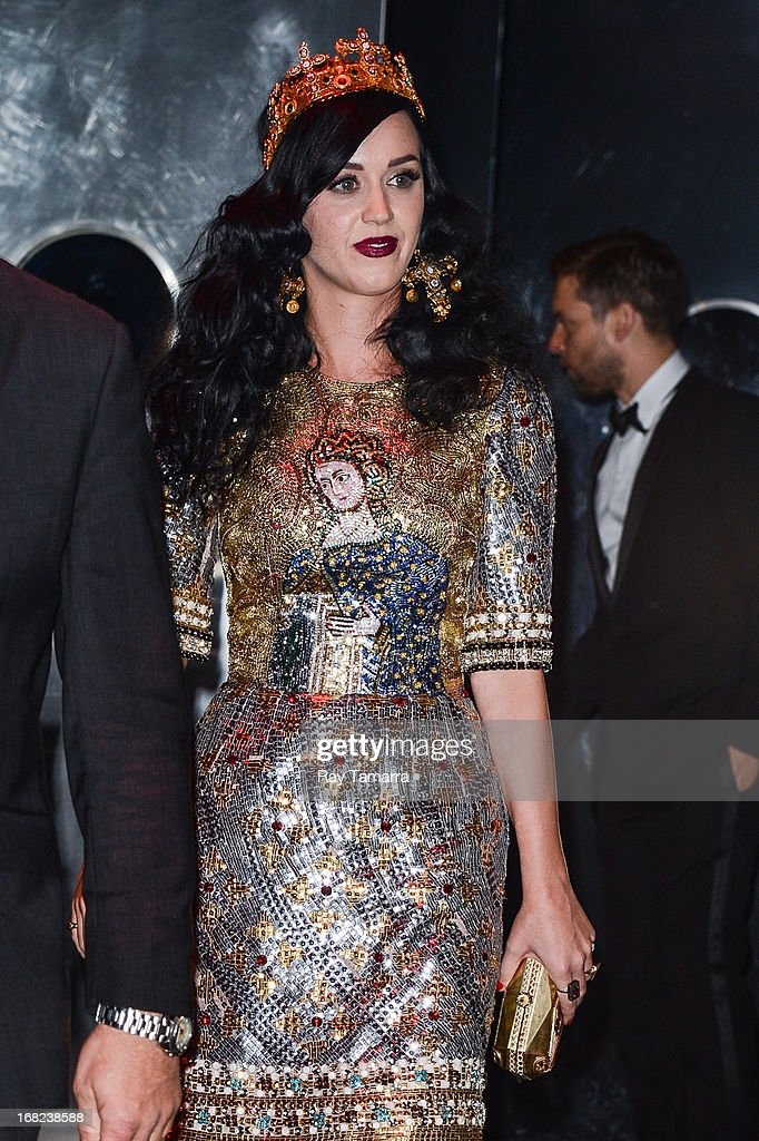Singer Katy Perry leaves the 'PUNK: Chaos To Couture' Costume Institute Gala after party at the Standard Hotel on May 6, 2013 in New York City.