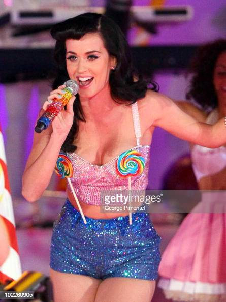 Singer Katy Perry performs at the 21st Annual MuchMusic Video Awards at the MuchMusic HQ on June 20 2010 in Toronto Canada