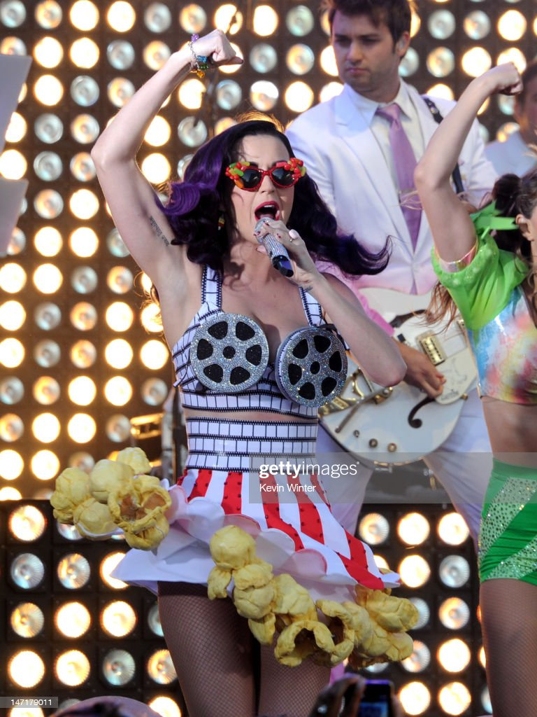 Singer <a gi-track='captionPersonalityLinkClicked' href=/galleries/search?phrase=Katy+Perry&family=editorial&specificpeople=599558 ng-click='$event.stopPropagation()'>Katy Perry</a> performs at the first-ever Pepsi/Billboard Summer Beats special live performance for '<a gi-track='captionPersonalityLinkClicked' href=/galleries/search?phrase=Katy+Perry&family=editorial&specificpeople=599558 ng-click='$event.stopPropagation()'>Katy Perry</a>: Part Of Me' at Grauman's Chinese Theatre on June 26, 2012 in Hollywood, California. '<a gi-track='captionPersonalityLinkClicked' href=/galleries/search?phrase=Katy+Perry&family=editorial&specificpeople=599558 ng-click='$event.stopPropagation()'>Katy Perry</a>: Part Of Me' will be released by Paramount's Insurge Pictures on July 5, 2012.