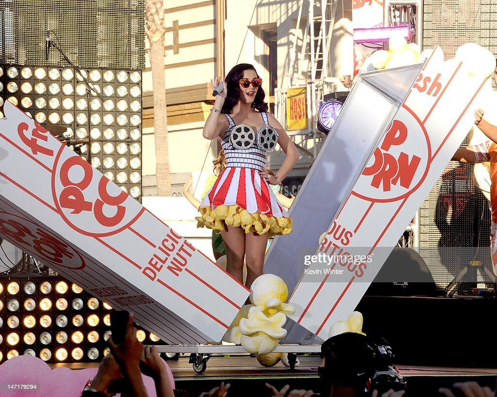 Singer Katy Perry performs at the first-ever Pepsi/Billboard Summer Beats special live performance for 'Katy Perry: Part Of Me' at Grauman's Chinese Theatre on June 26, 2012 in Hollywood, California. 'Katy Perry: Part Of Me' will be released by Paramount's Insurge Pictures on July 5, 2012.