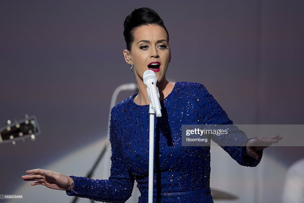 Singer <a gi-track='captionPersonalityLinkClicked' href=/galleries/search?phrase=Katy+Perry&family=editorial&specificpeople=599558 ng-click='$event.stopPropagation()'>Katy Perry</a> performs during a a concert commemorating the Special Olympics with U.S. President Barack Obama, not pictured, in the State Dining Room of the White House in Washington, D.C., U.S., on Thursday, July 31, 2014. Founded in 1968 by Eunice Kennedy Shriver, the Special Olympics movement has grown to more than 4.4 million athletes in 170 countries. Photographer: Andrew Harrer/Bloomberg via Getty Images