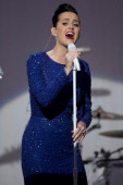Singer Katy Perry performs during a concert commemorating the Special Olympics with US President Barack Obama not pictured in the State Dining Room...