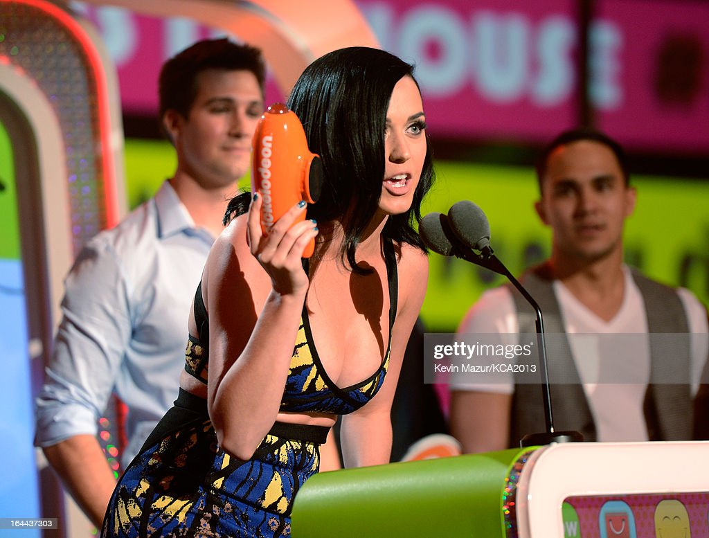 Singer Katy Perry performs during Nickelodeon's 26th Annual Kids' Choice Awards at USC Galen Center on March 23, 2013 in Los Angeles, California.