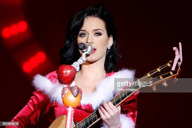 Singer Katy Perry performs during the ski winter opening on November 28 2009 in Ischgl Austria