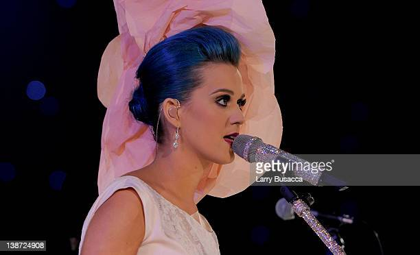 Singer Katy Perry performs onstage at the 2012 MusiCares Person of the Year Tribute to Paul McCartney held at the Los Angeles Convention Center on...