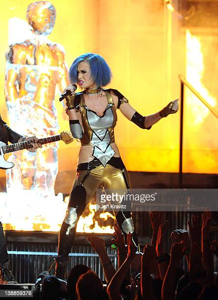 Singer Katy Perry performs onstage at the 54th Annual GRAMMY Awards held at Staples Center on February 12 2012 in Los Angeles California