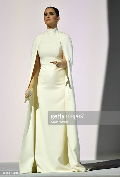 Singer Katy Perry performs onstage during The 57th Annual GRAMMY Awards at the STAPLES Center on February 8 2015 in Los Angeles California