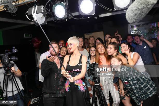 Singer Katy Perry poses fo a photo during a visit to Kiss FM Studio's on June 23 2017 in London England Katy Perry performed an exclusive set of...