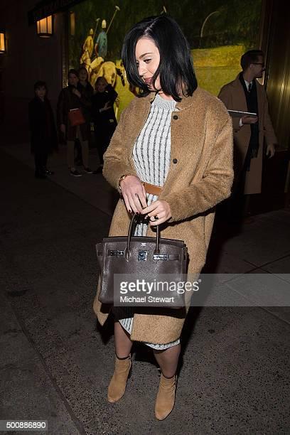 Singer Katy Perry seen in Midtown on December 10 2015 in New York City
