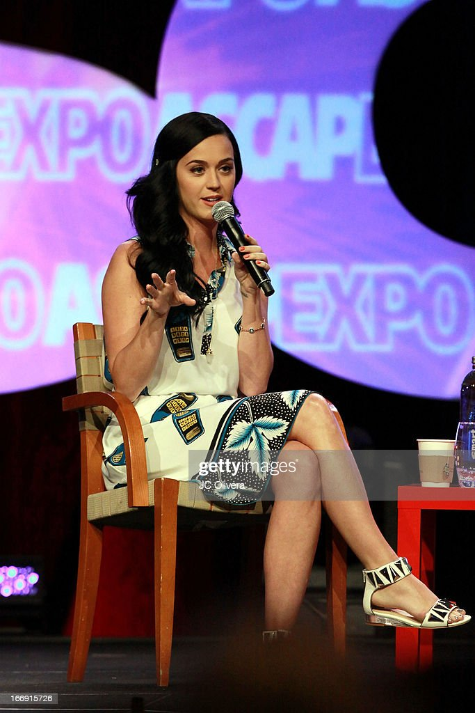 Singer <a gi-track='captionPersonalityLinkClicked' href=/galleries/search?phrase=Katy+Perry&family=editorial&specificpeople=599558 ng-click='$event.stopPropagation()'>Katy Perry</a> speaks at the 8th Annual ASCAP 'I Create Music' EXPO at Loews Hollywood Hotel on April 18, 2013 in Hollywood, California.
