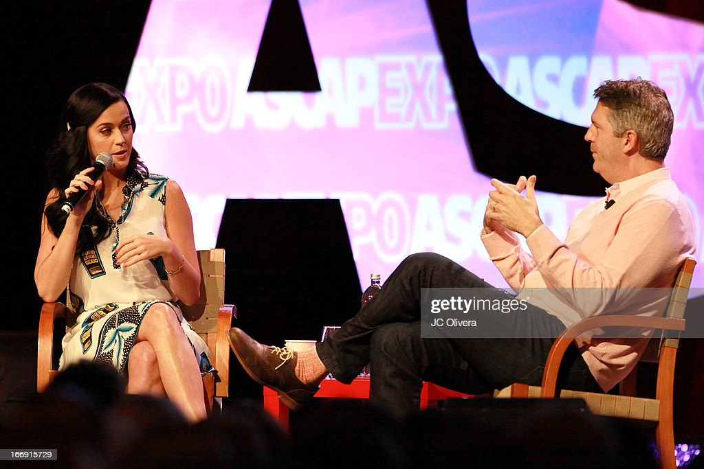 Singer Katy Perry speaks at the 8th Annual ASCAP 'I Create Music' EXPO at Loews Hollywood Hotel on April 18, 2013 in Hollywood, California.