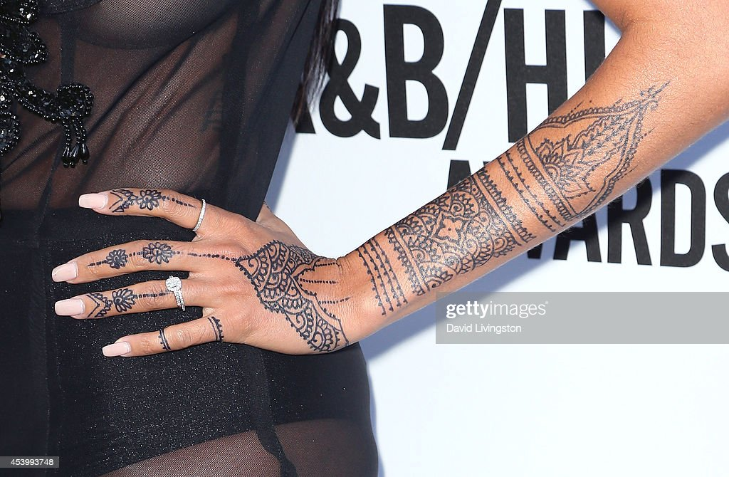 Singer Kay Cola (tattoo detail) attends the 2014 BMI R&B/Hip-Hop Awards at the Pantages Theatre on August 22, 2014 in Hollywood, California.