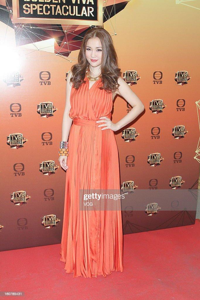 Singer Kay Tse attends TVB Golden Viva Spectacular at TVB City on February 5, 2013 in Hong Kong.