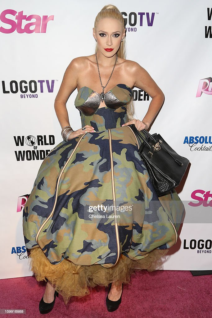Singer Kaya Jones arrives at 'Rupaul's Drag Race' season 5 premiere party at The Abbey on January 22, 2013 in West Hollywood, California.