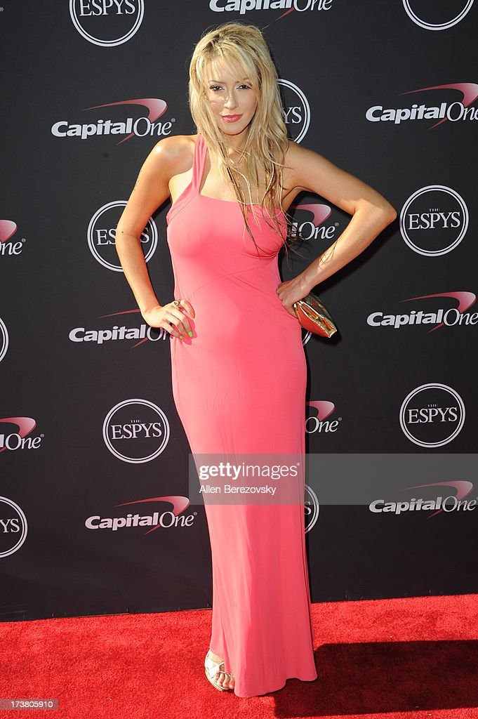 Singer Kaya Jones arrives at the 2013 ESPY Awards at Nokia Theatre L.A. Live on July 17, 2013 in Los Angeles, California.