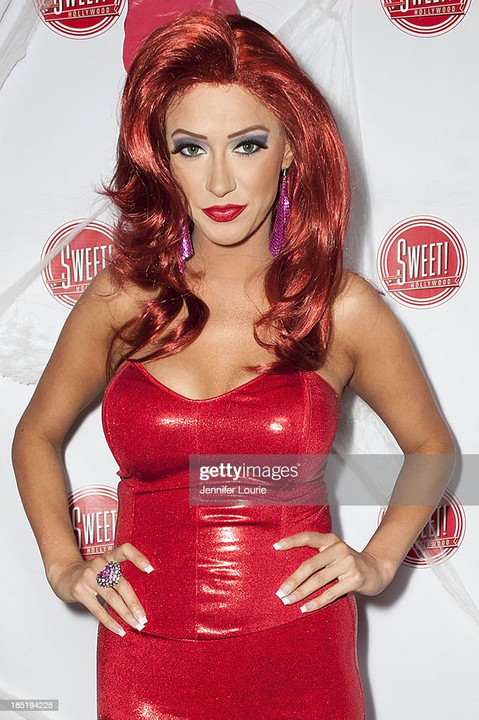 Singer Kaya Jones attends the former Pussycat Doll Kaya Jone's 'Halloween Doll' celebratory event at Sweet! Hollywood Boutique on October 17, 2013 in Hollywood, California.