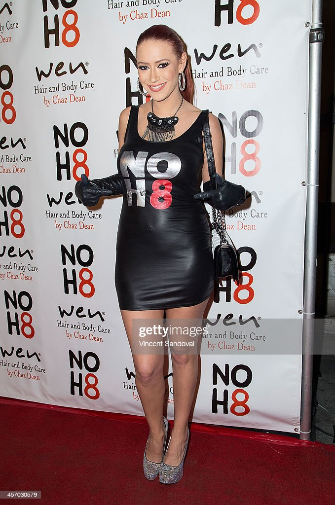Singer <a gi-track='captionPersonalityLinkClicked' href=/galleries/search?phrase=Kaya+Jones&family=editorial&specificpeople=601338 ng-click='$event.stopPropagation()'>Kaya Jones</a> attends the NOH8 Campaign's 5th Annual Anniversary Celebration at Avalon on December 15, 2013 in Hollywood, California.