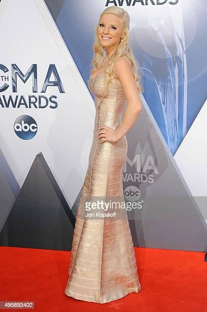 Singer Kayla Adams attends the 49th annual CMA Awards at the Bridgestone Arena on November 4 2015 in Nashville Tennessee