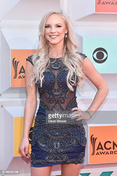 Singer Kayla Adams attends the 51st Academy of Country Music Awards at MGM Grand Garden Arena on April 3 2016 in Las Vegas Nevada