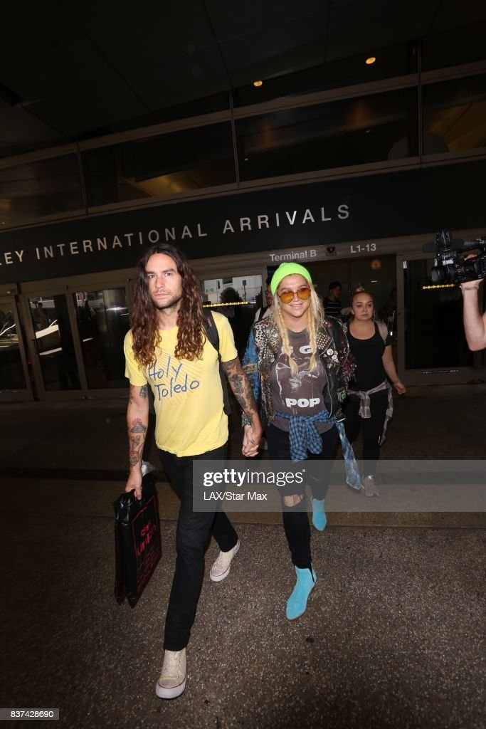 Singer Ke$ha and Brad Ashenfelter are seen on August 22, 2017 in Los Angeles, CA.