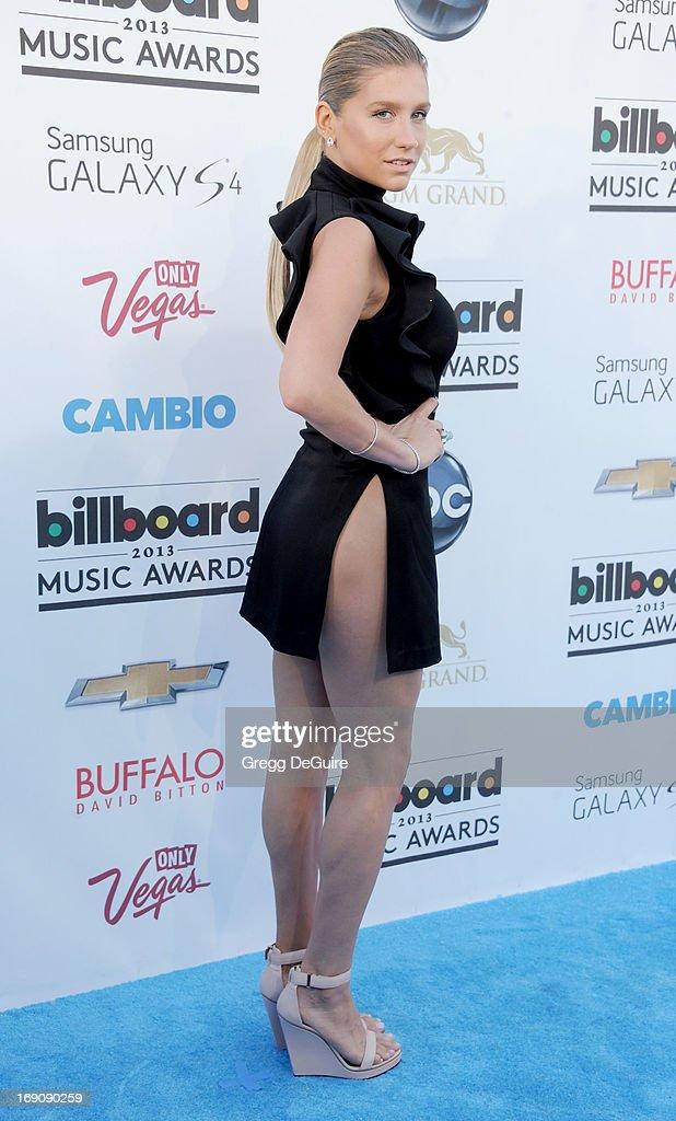 Singer Ke$ha arrives at the 2013 Billboard Music Awards at MGM Grand Garden Arena on May 19, 2013 in Las Vegas, Nevada.